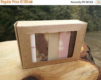 SUMMER SALE Travel Soap / soap to Go / Travel set soap / natural soap with essential oil / soap samples / gift set kraft box / soap samplers