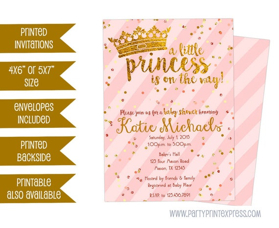 Princess baby shower invitations pink and gold princess baby il570xn filmwisefo