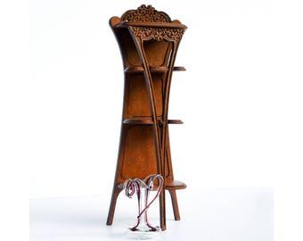 Art Nouveau Whatnot dollhouse miniature kit 1:12