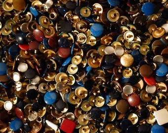40% Vintage Tack Button Rivets - Multi Colored - Multi Finishes and Styles - 1 1/2 Pounds
