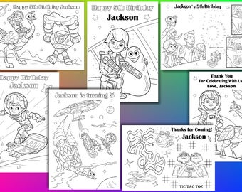Miles From Tomorrowland coloring pages, Miles From Tomorrowland Birthday Party favor, PDF file