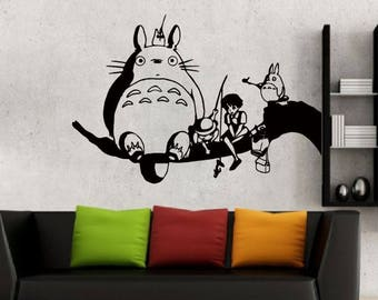 Charmant Totoro And Friends Wall Decal For Nursery Room Wall Art Childrenu0027s Sticker  Art Anime My Neighbor