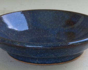 Glossy blue speckled bowl