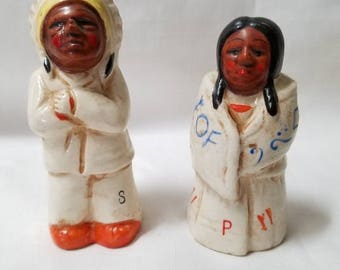 Native American  Salt and Pepper Shakers (835)