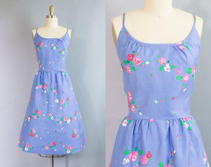 1960s Cotton Sundress/ Small (37b/26w)