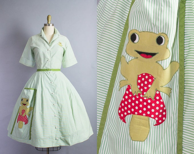1950s Frog Novelty Skirt Set/ XS