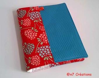 Blue and orange address book