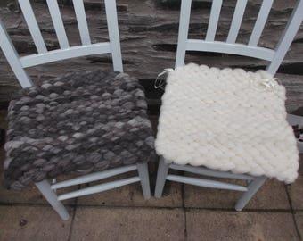 Peg Loom Seat Pad / Cushion 100% Pure Wool