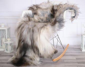 Icelandic Sheepskin | Real Sheepskin Rug | I Gray Black Sheepskin Rug | Fur Rug | Christmas Decorations #novisl4