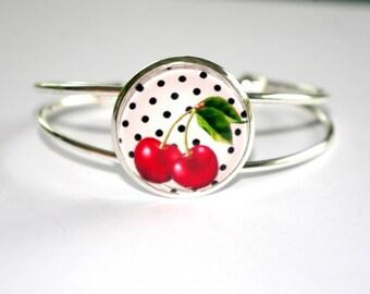 rockabilly cherry adjustable bracelet