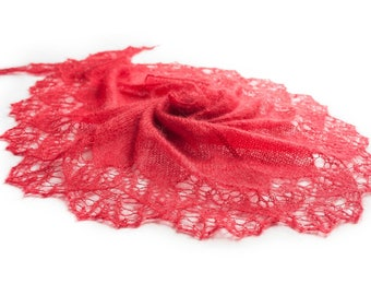 Knitted SHAWL in MOHAIR-SILK