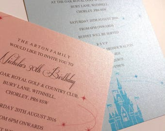 Fairytale | Castle | Princess | Wedding | Party |  Children's | Girl's | Invitations