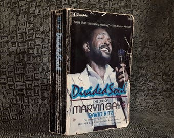 Marvin Gaye Book - Divided Soul Paperback, 1986, David Ritz, Motown Sexual Soul Singer, Let's Get It On, Whats Goin On