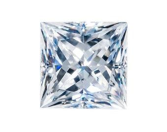 HARRO SQUARE Princess Cut Moissanite Loose Gemstones Colorless Square Moissanite Large Square Princess Moissanite Engagement Ring
