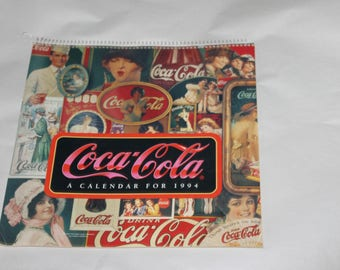 1992 Coca Cola Calendar, Memorabilia, Advertisement, A Calendar for 1994, Lots of Pictures Please Look At Pictures, Very Nice Condition