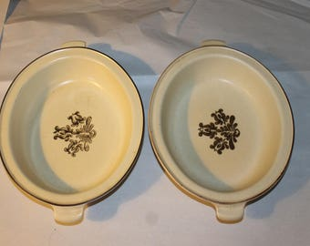 Two Vintage Casserole Dishes, philtzgraff, Made in USA, Pattern 6-11, (A), Serving Dishes, They are Both Identical, Very nice