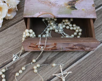 Special Buy!! Beautiful Silver Lasso and a Spanish Wooden Treasurer Chest, Lasso, Unity Cord, Wedding lasso, Wedding Treasurer Chest, Lasso