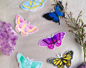 Moth + Butterfly Stickers