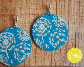 Turquoise polymer earrings