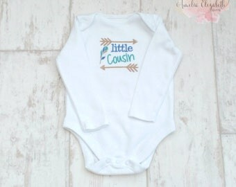 Embroidered Family Cousin T-Shirt Customisable Photo Prop