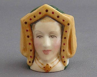Francesca Character Head Thimble - Catherine of Aragon