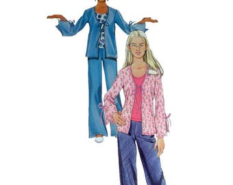 "Teen or Tween Girls' Jacket and Knit Top and Pants Sewing Pattern Sizes 8, 10, 12, 14, 16 Bust 27 - 34"" Uncut Simplicity 5277"
