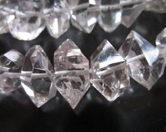 16 inch necklace of natural hakemer quartz ( Daimond Quartz )