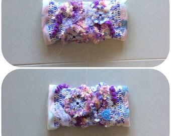 Mauve Crochet Fidget Sensory Twiddle Muff Dementia Alzheimers Autism