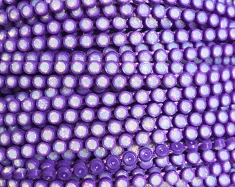 SS8 Purple Rhinestone Banding with an Opal Stone - Sold by the yard