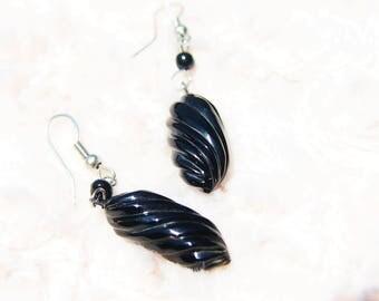 Black Coral Earring (Elley)