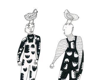 Beasties-Archival Print