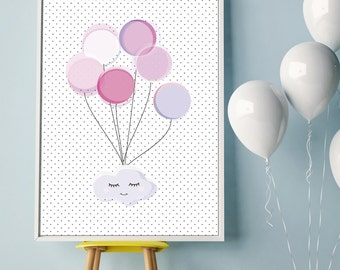Sweet hanging cloud poster