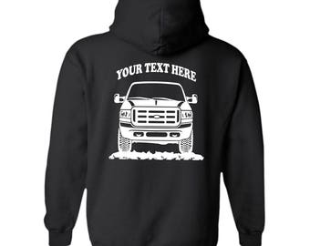 FORD SUPER-DUTY F250 F350 Truck 1998 - 2003 Offroad 4x4  Personalized Black Pullover Hoodie! 50/50 cotton/polyester  - #HOR030