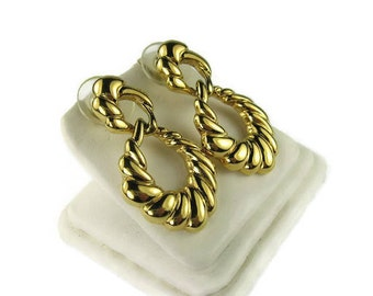 Napier Dangle Hoop Earrings