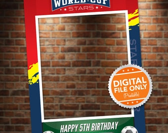 Soccer Card Photo Booth. Party Prop Frame. Digital File only