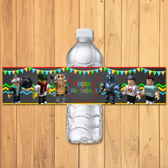 Roblox Drink Label Chalkboard * Roblox Water Bottle Label * Roblox Party Favors * Roblox Birthday Printables * Roblox Birthday Party Favors