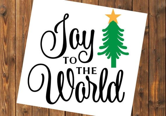 Free Shipping-Joy to the World, Christmas Decal Sticker, Christian, Manger, Nativity, Yeti RTIC SIC Tumbler Cup Decal