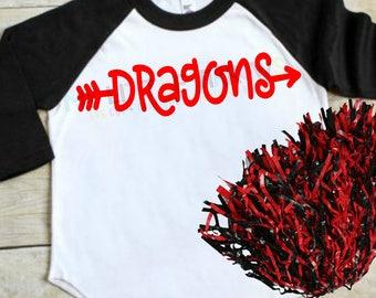 Dragons svg | dragons dxf | dragon football svg | football svg | svg | dxf | eps | png | pdf | pirates iron on | football sister svg