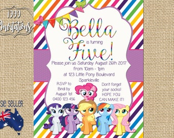 Printable My Little Pony Invitation - Pony Party - My Little Pony Theme - My Little Pony Party - DIY