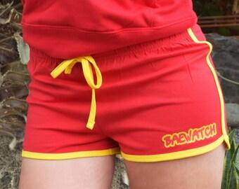 Baewatch Womens Shorts. Humour, Funny, Spoof, bae, Parody, Girlfriend Boyfriend, Beach Vibes, Fashion, Summer Bod, Matching Hoodie