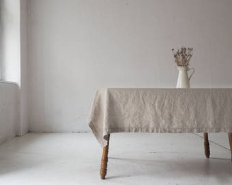 Natural linen TABLECLOTH for Easter table by so linen!