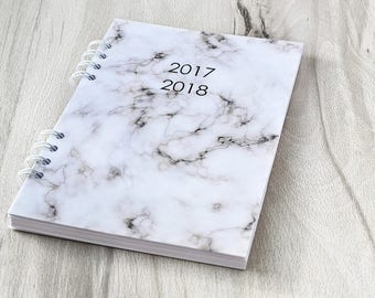 Planner 2017 2018 Marble planner notebook Journal diary 2017 Weekly planner Marble agenda 2017 2018 Daily planner 2017 2018 A5 planner daily
