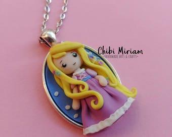 Princess Rapunzel fimo necklace