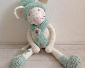 Stuffed crochet mouse/ crochet animal/  amigurumi/ stuffed animal