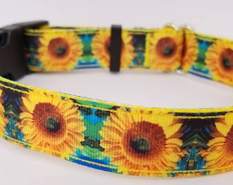 Sunflower dog collars