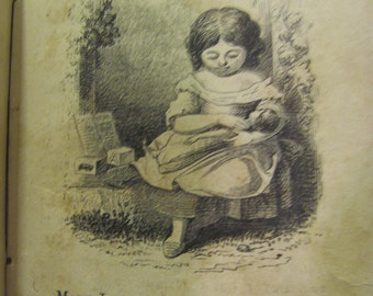 Mourning Book 'Mary Lord' Published by The American Tract Society 1850's Woodcut Engravings