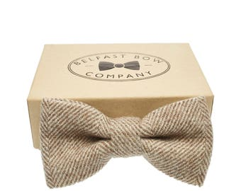 Handmade Tweed Bow Tie in Herringbone - Adult & Junior sizes available