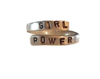 Girl Power Sterling Silver Ring