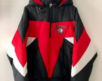 Vintage 90's Buffalo Sabres Pro Player Parka Winter Jacket SZ L