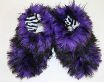 Fantastic Slippers - Purple Slippers - Faux Fur Slippers - Womens Slippers - House Slippers - Furry Slippers Fuzzy Slippers Fluffy Slippers